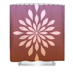 Star Flower Ombre  Shower Curtain