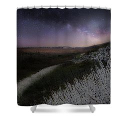 Shower Curtain featuring the photograph Star Flowers Square by Bill Wakeley