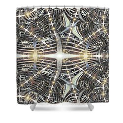 Star Grille Shower Curtain