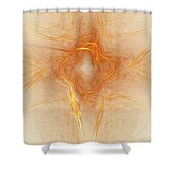 Star In Abstract Shower Curtain by Deborah Benoit