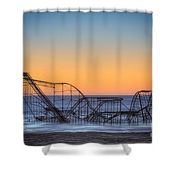 Star Jet Roller Coaster Ride  Shower Curtain