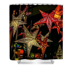Shower Curtain featuring the photograph Star Lights by Lora Lee Chapman
