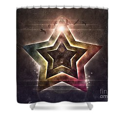 Shower Curtain featuring the digital art Star Lights by Phil Perkins