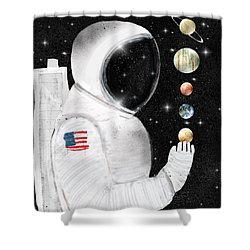Shower Curtain featuring the painting Star Man by Bri B