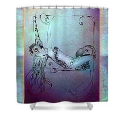 Star Mermaid Shower Curtain