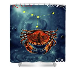 Star Of Cancer Shower Curtain