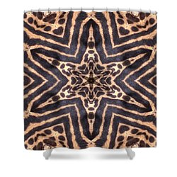 Star Of Cheetah Shower Curtain by Maria Watt