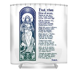 Star Of The Sea Song Shower Curtain by Lawrence Klimecki