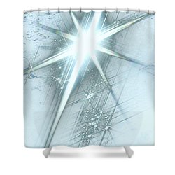 Star Of Wonder Shower Curtain by Ellen Henneke