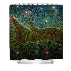 Star Rider Shower Curtain by David Lee Thompson