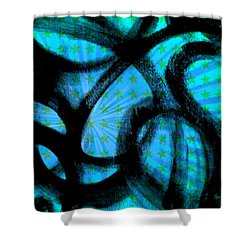 Shower Curtain featuring the digital art Star Soul by Lucia Sirna