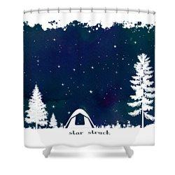 Shower Curtain featuring the digital art Star Struck by Heather Applegate