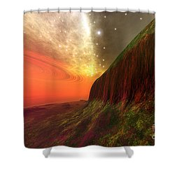Star Stuff Shower Curtain by Corey Ford