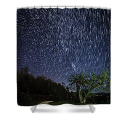 Star Trail Over The Blue Ridge Shower Curtain by Serge Skiba