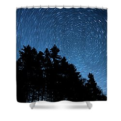 Star Trails In Acadia Shower Curtain