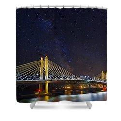 Star Trek Bridge Shower Curtain by David Gn