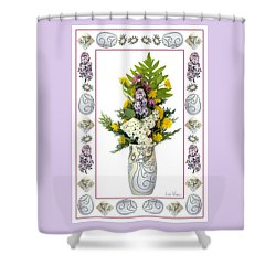 Shower Curtain featuring the photograph Star Vase With A Bouquet From Heaven by Lise Winne