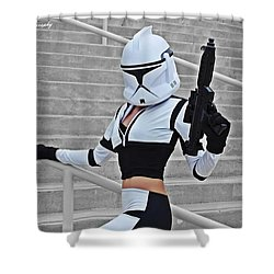 Star Wars By Knight 2000 Photography - Hello Guns Shower Curtain