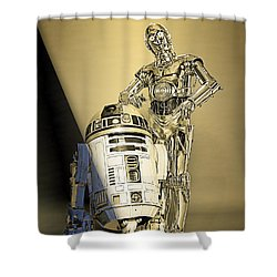 Star Wars C3po And R2d2 Collection Shower Curtain by Marvin Blaine