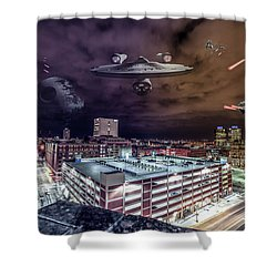 Shower Curtain featuring the photograph Star Wars Detroit by Nicholas Grunas