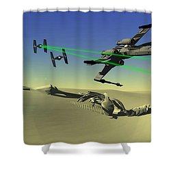Star Wars Shower Curtain by Michael Greenaway