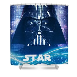 Shower Curtain featuring the photograph Star Wars - The Force Awakens - Darth Vader by Aurelio Zucco