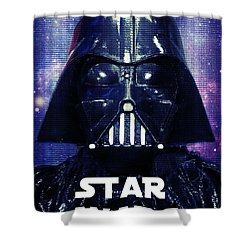 Shower Curtain featuring the photograph Star Wars - The Force Awakens - Darth Vader II by Aurelio Zucco