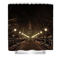 Starburst Lights Shower Curtain