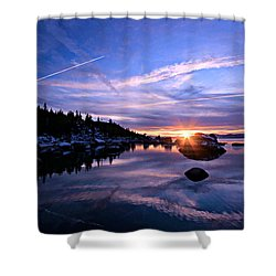 Starburst Shower Curtain by Sean Sarsfield