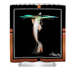 Starcrossed Lovers Shower Curtain