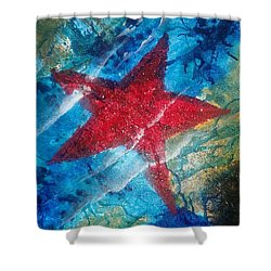 Starfish 2 Shower Curtain by Judi Goodwin