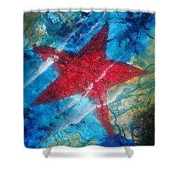 Starfish 2 Shower Curtain by Judi Goodwin