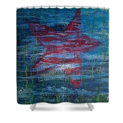 Starfish 3 Shower Curtain by Judi Goodwin