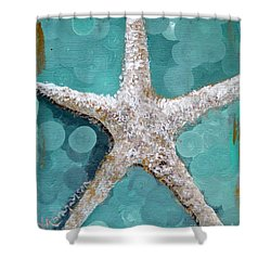 Starfish Goldie Shower Curtain