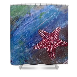 Starfish Shower Curtain by Judi Goodwin