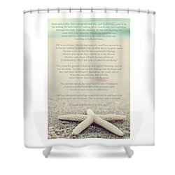 Starfish Make A Difference Vintage Set 1 Shower Curtain