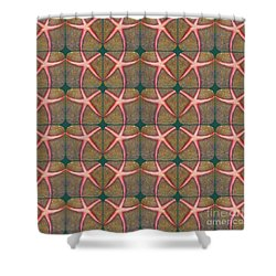 Starfish Pattern Shower Curtain