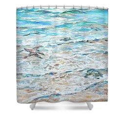 Starfish Under Shallows Shower Curtain