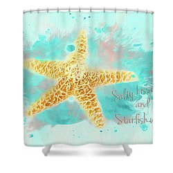 Shower Curtain featuring the photograph Starfish Wishes by Darren Fisher