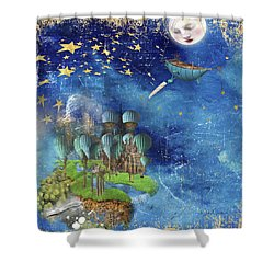 Starfishing In A Mystical Land Shower Curtain