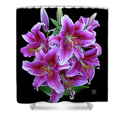 Stargazer Lily Cutout Shower Curtain