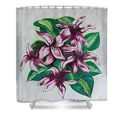 Stargazers Blooming Shower Curtain by J R Seymour