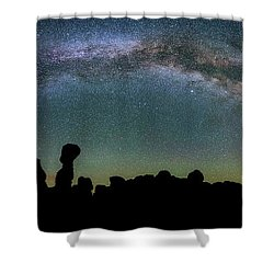 Shower Curtain featuring the photograph Stargazing Family by Darren White