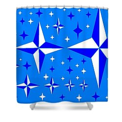 Starlight 9 Shower Curtain by Linda Velasquez