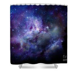 Starlight Shower Curtain by Christy Ricafrente