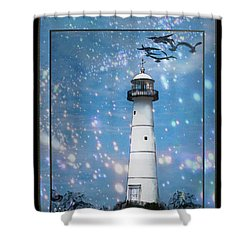 Starlight Lighthouse Shower Curtain