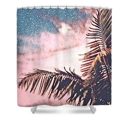 Starlight Palm Shower Curtain
