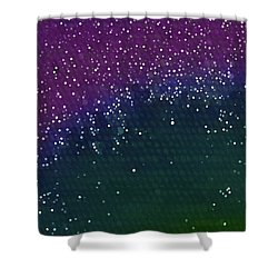 Starlight Through Trees Shower Curtain