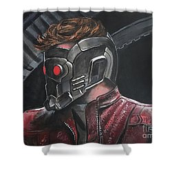 Starlord Shower Curtain by Tom Carlton
