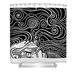 Starry Cabin Shower Curtain